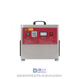Cañón de Ozono 155W -  Serie PRT hasta 5g/h.   Esta máquinade ozonoes un generador deozono portátil que comprime el aire con